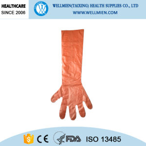 Mass Production Disposable Plastic Slaughtering Gloves pictures & photos