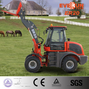 Everun 2017 Ce Approved 2.0 Ton Small Front End Loader with Pallet Forks pictures & photos