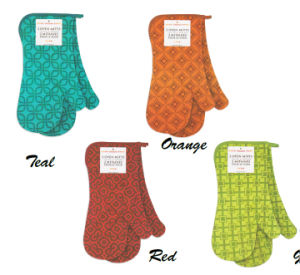 Kitchenware Ware Printed Oven Mitts-Sets Cotton Fabric pictures & photos