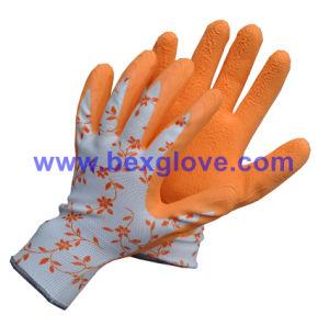 Flower Print Color Garden Glove pictures & photos