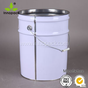 20L/22L/25L White Painted Pail with Flower Lid and Metal Handle pictures & photos