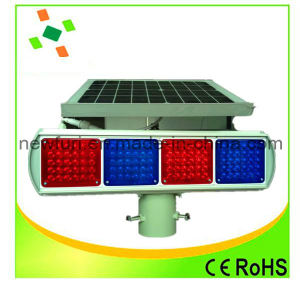Solar Blue and Red LED Flashing Light for Traffic Warning pictures & photos