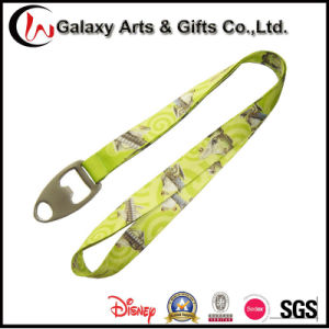 Customized Silk Screen Printed Polyester Beer Opener Short Lanyard for Keychain pictures & photos