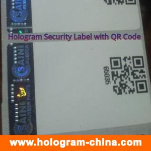 Security Anti-Counterfeiting Hologram Stickers with Qr Code Printing pictures & photos