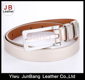 Fashion Women PU Belt with Petrol Dripping Buckle pictures & photos