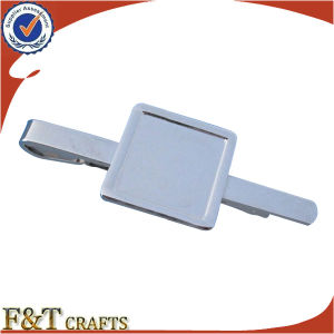 Promotional Custom Emboss Silver Metal Blank Tie Bars (FTTB2605A) pictures & photos