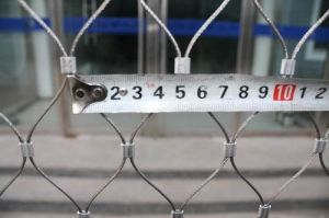 316L Stainless Steel Security Wire Rope Mesh/Ss Ferrule Mesh pictures & photos