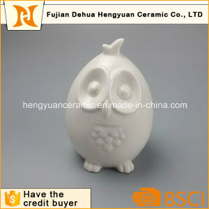Home Decoration White Glazed Cartoon Owl pictures & photos
