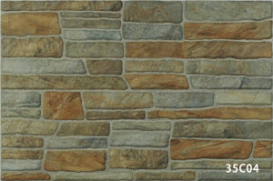 Porcelain Artificial Green Stone Exterior Wall Tile for House (333X500mm) pictures & photos