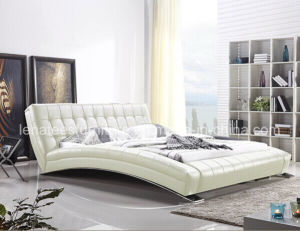 A059 Fancy Design Leather Furniture Queen Size Bed pictures & photos