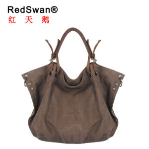 Ladies′s Fashion Washed Canvas Fabric Women Handbag (RS-6201) pictures & photos