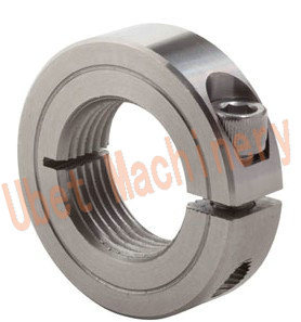 Threaded Carbon Steel Rigid Coupling Shaft Collar with Set Screw pictures & photos