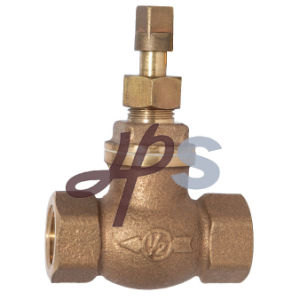 Bronze C83600 Stop Valve 3/4′′, 1′′, with Steel or Copper Handle pictures & photos