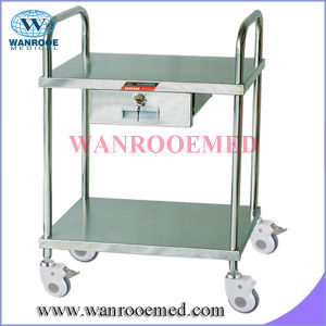 Stainless Steel Dressing Trolley with One Drawer pictures & photos