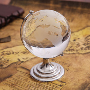 D80mm Crystal Glass Globe Ball Craft for Business Gift pictures & photos