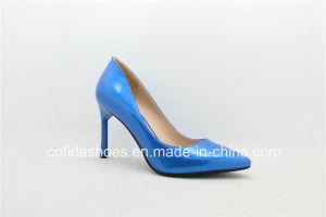 Pointed Toe Women Fashion High Heels Leather Shoes pictures & photos