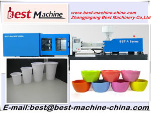 High Hardness Plastic Flower Pot Injection Moulding Making Machine Price in China pictures & photos