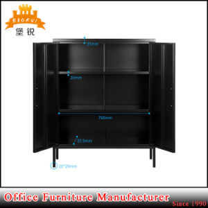 Cheap Price Black Living Room Metal Storage Cabinet pictures & photos