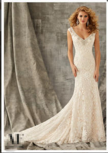 2016 Lace Crystal Beaded Embroidery Bridal Wedding Gowns Wd1347 pictures & photos