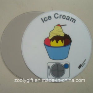 Round Shape Ice Cream Printed PVC Placemat Round PVC Coaster pictures & photos