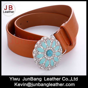 Latest Fashion Men′s PU Leather Rhinestone Belts