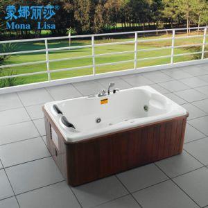 Good Quality Acrylic Freestanding Whirlpool Bathtub with Hem (M-2002) pictures & photos
