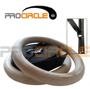 Crossfit Nylon Strap Wooden Gymnastic Rings (PC-GR1007) pictures & photos