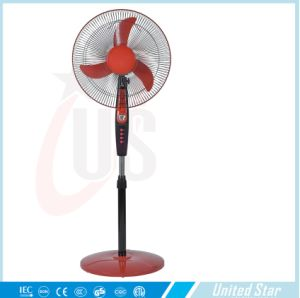 China Supplier 12V DC Solar Battery Stand Fan pictures & photos