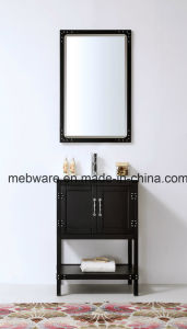 24′′ Floor Stand Black Solid Wood Vanity Fair Bathroom Furniture pictures & photos