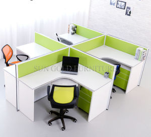 Fashionable Standard Size 4 Seats Office Bench Office Workstation (SZ-WS260) pictures & photos