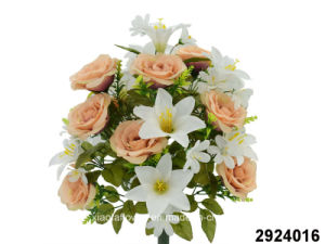 Artificial/Plastic/Silk Flower Rose/Lily Mixed Bush (2924016) pictures & photos