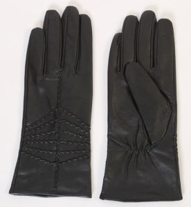 Lady Sheepskin Leather Fashion Driving Gloves (YKY5159) pictures & photos