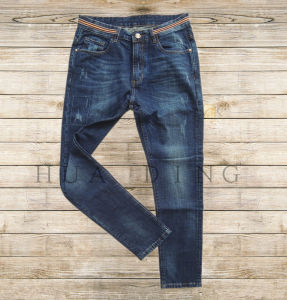 New Popular Design High Qaulity Men′s Denim Jeans with Moustache Effect (HDMJ0036) pictures & photos