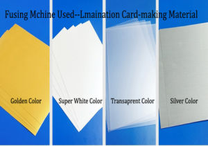 pvc overlay core film pvc coated overlay film for various business or membership cards
