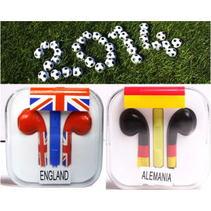 Customized Flag Pattern Earphone Headphone for iPhone 5