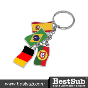 Bestsub Flag Shape Zinc Alloy Sublimation Key Ring (YA11) pictures & photos