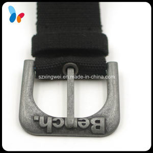 Metal Alloy Pin Buckle with Raise Embossed Logo pictures & photos
