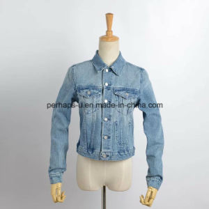 New Women Slim Denim Jeans Coat Outer Wear Outdoor Jacket pictures & photos