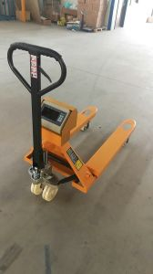 Lifting Tool Hand Pallet Truck with Scale 2000kg Manual Forklift pictures & photos