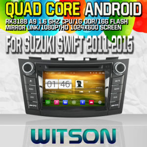 Witson S160 Car DVD GPS Player for Suzuki Swift 2011-2015 with Rk3188 Quad Core HD 1024X600 Screen 16GB Flash 1080P WiFi 3G Front DVR DVB-T Mirror-Link Pip pictures & photos