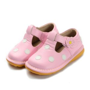 Pink with White Polka Dots Baby Shoes