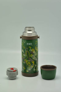 High Quality 304 Stainless Steel Vacuum Flask Double Wall Vacuum Flask Svf-1000e Green pictures & photos