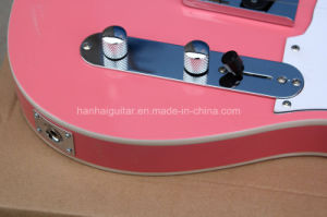Hanhai Music / Semi-Hollow Pink Electric Guitar with White Pickguard pictures & photos