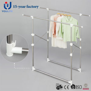 Double Pole Telescopic Clothes Hanger pictures & photos