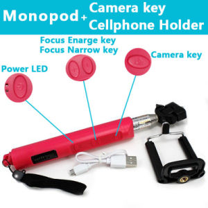 High Quality Foldable Monopod Bluetooth Selfie Stick with Zoom pictures & photos
