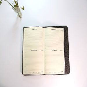 Thread Sewing New Design Notebook with PU Leather pictures & photos