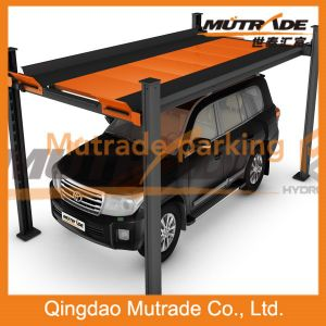2 Automobile Car Vehicle Hydraulic Motor Four Post Car Parking System in USA pictures & photos