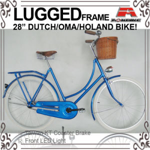 "Lugged Frame 28"" Coaster Brake Oma Bicycle for Lady (AYS-2828S-2) pictures & photos"