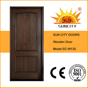 Classical Modern Room Interior Solid Wood Main Door Design (SC-W130) pictures & photos