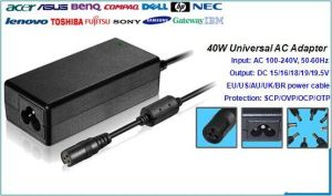 40W Universal Car Adapter for Laptop
